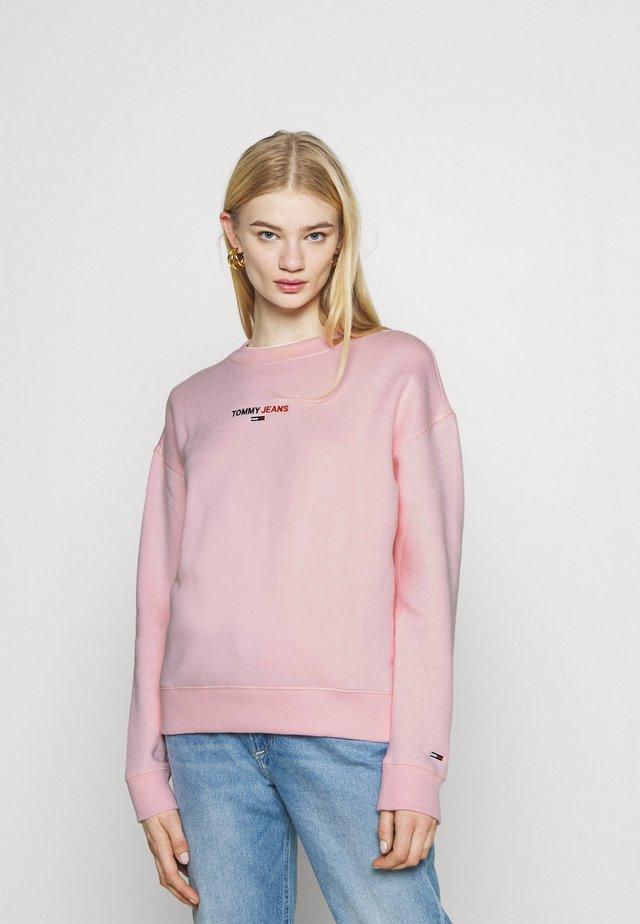 LINEAR CREW NECK - Sweatshirt - romantic pink