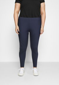 Tommy Jeans Curve - TAPE - Leggings - Trousers - twilight navy - 0