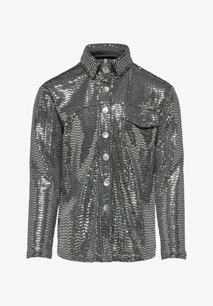 Button-down blouse - silver