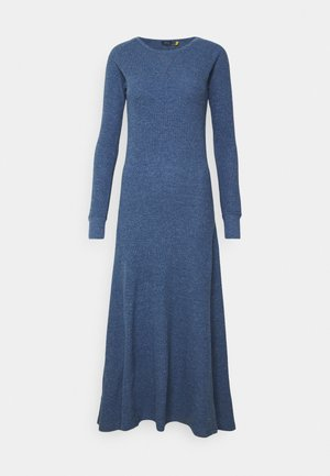 WAFFLE - Jumper dress - river blue heather