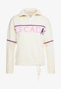 Escada Sport - LAVANDA - Stickad tröja - white - 6