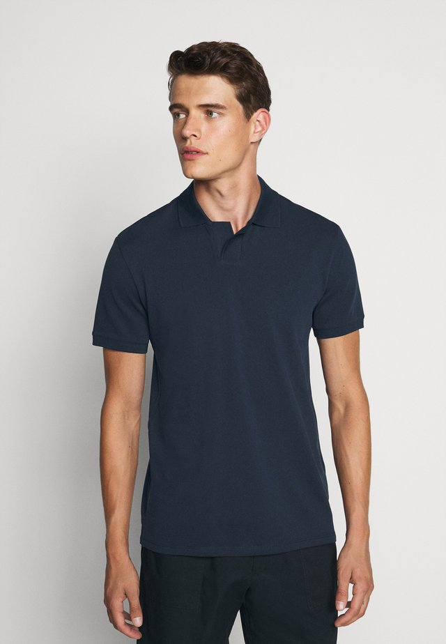 JOHNNY COLLAR - Polo - navy