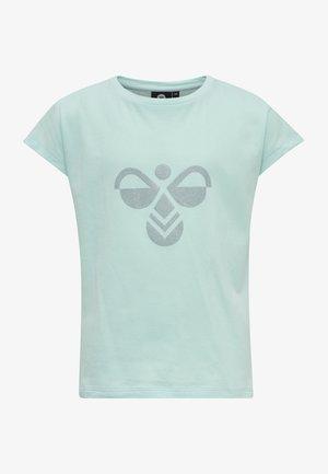 Print T-shirt - blue tint