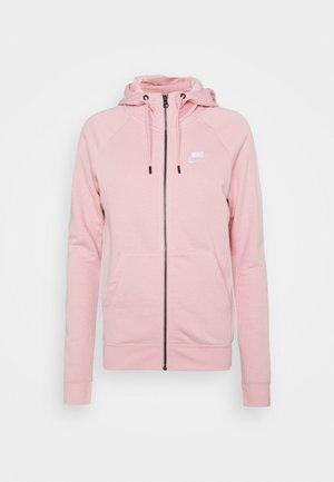 HOODIE - Zip-up hoodie - pink glaze/white