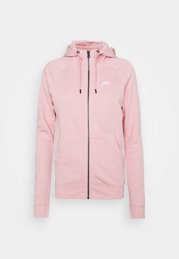 HOODIE - Zip-up sweatshirt - pink glaze/white