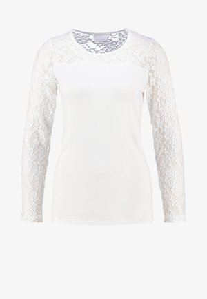 LACY  - Long sleeved top - chalk
