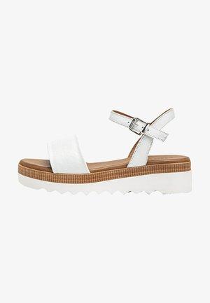 Sandales à plateforme - white wht