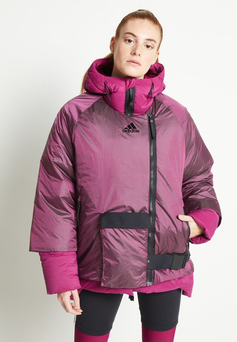 adidas Performance - URBAN COLD RDY OUTDOOR JACKET 2 IN 1 - Down jacket - power berry
