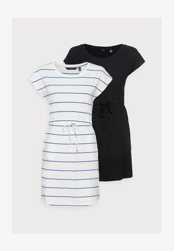 VMAPRIL SHORT DRESS 2 PACK - Vestido ligero - black/snow white/dazzling blue