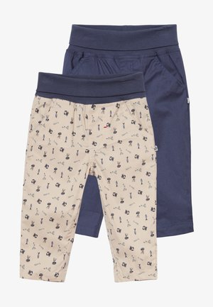 COUCOU MON PETIT 2 PACK - Pantalones - dark blue