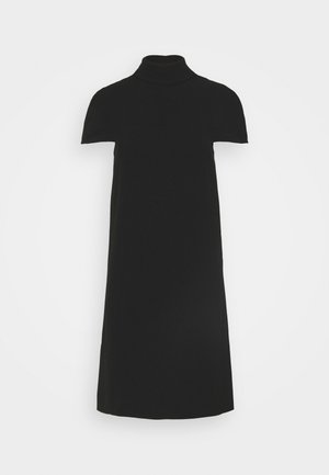 CAPE DETAIL SOFT DRESS - Tubino - black