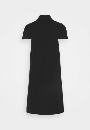 CAPE DETAIL SOFT DRESS