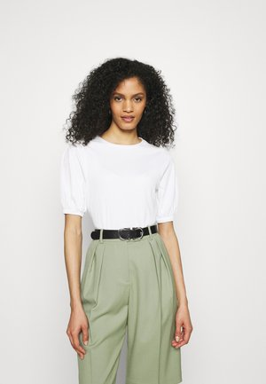 PUFF SLEEVE  - Basic T-shirt - white