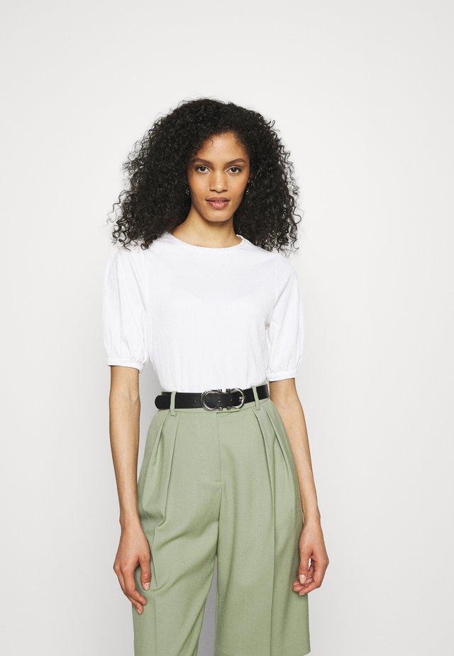 PUFF SLEEVE  - T-shirt basic - white