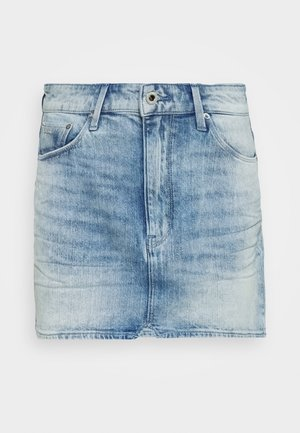 3301 HIGH MINI SKIRT - Jupe en jean - sun faded arctic