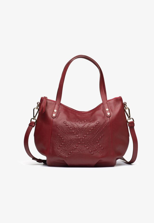 ABABA SMALL - Across body bag - scarlet