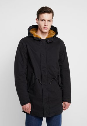 CLASSIC HOODED - Parkas - black