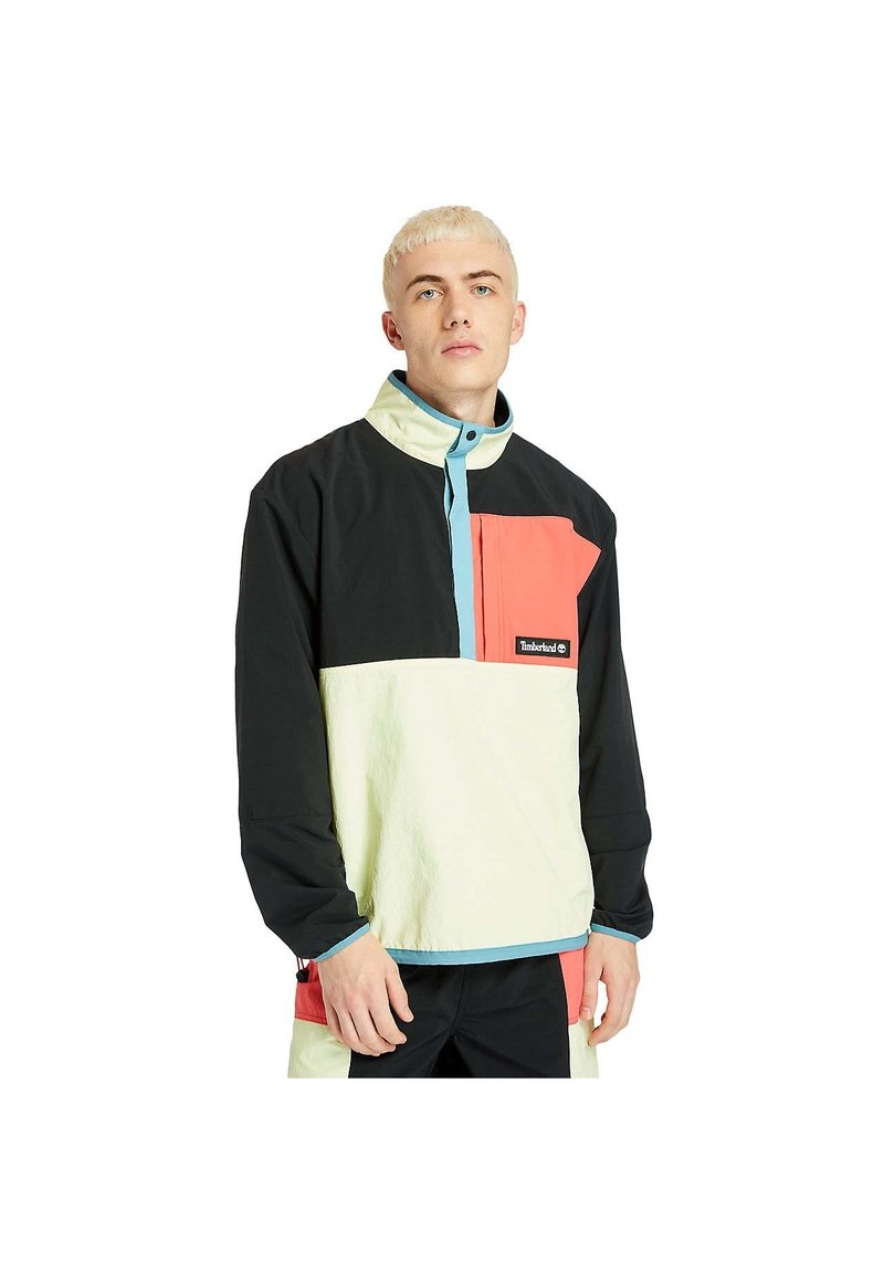 Timberland - OUTDOOR ARCHIVE PACKABLE  - Windbreaker - black/lumin green/cayenne
