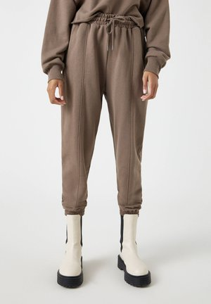 Tracksuit bottoms - dark brown