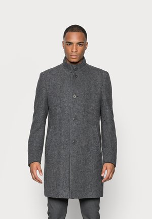 COAT REGULAR FIT FULLY LINED STAND UP COLLAR FIVE BUTTONS - Classic coat - dark grey melange