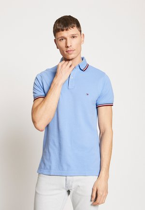 TIPPED SLIM FIT - Polo - blue
