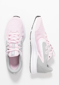 Nike Performance - DOWNSHIFTER 9 - Neutral running shoes - pink foam/white/metallic silver/pure platinum - 1