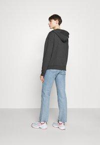 Even&Odd - Oversized Hooded Sweat Jacket - Zip-up hoodie - mottled dark grey - 2
