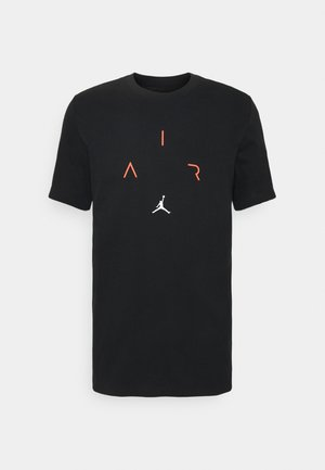 AIR CREW - T-shirt imprimé - black/infrared