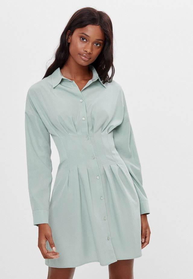 Shirt dress - turquoise