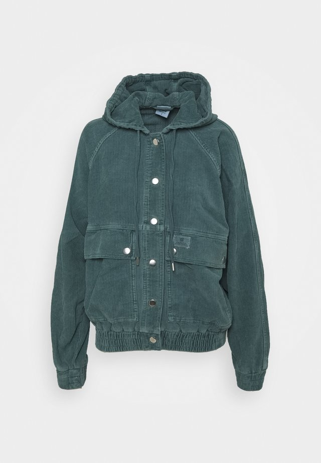 HOODED JACKET - Light jacket - teal