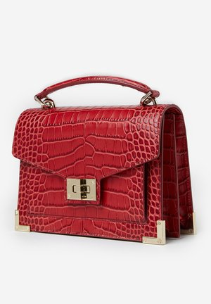 CROCODILE-EFFECT - Handbag - red