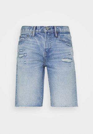 Denim shorts - light-blue denim