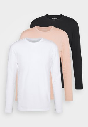 3 PACK UNISEX - Långärmad tröja - black /white/pink