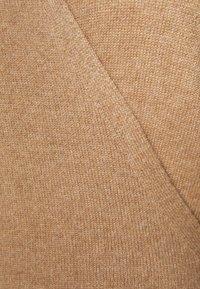 pure cashmere - WRAP DRESS - Jumper dress - dark beige - 2