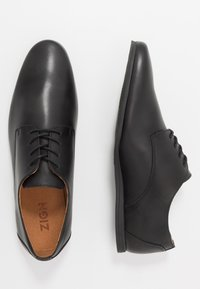 Zign - LEATHER - Chaussures à lacets - black - 1
