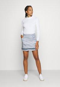 adidas Golf - ULTIMATE SPORTS GOLF SKIRT - Sportovní sukně - glory grey/pink tint - 1