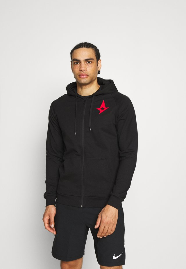 ASTRALIS ZIP HOODIE - veste en sweat zippée - black