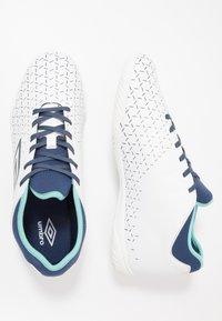 Umbro - VELOCITA V CLUB IC - Indoor football boots - white/medieval blue/blue radiance - 1