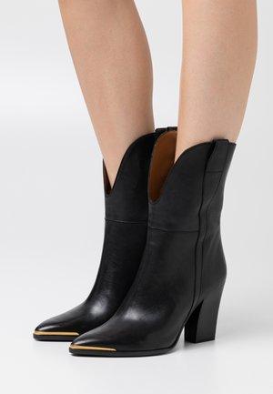 Kotníková obuv na vysokém podpatku - firenze nero