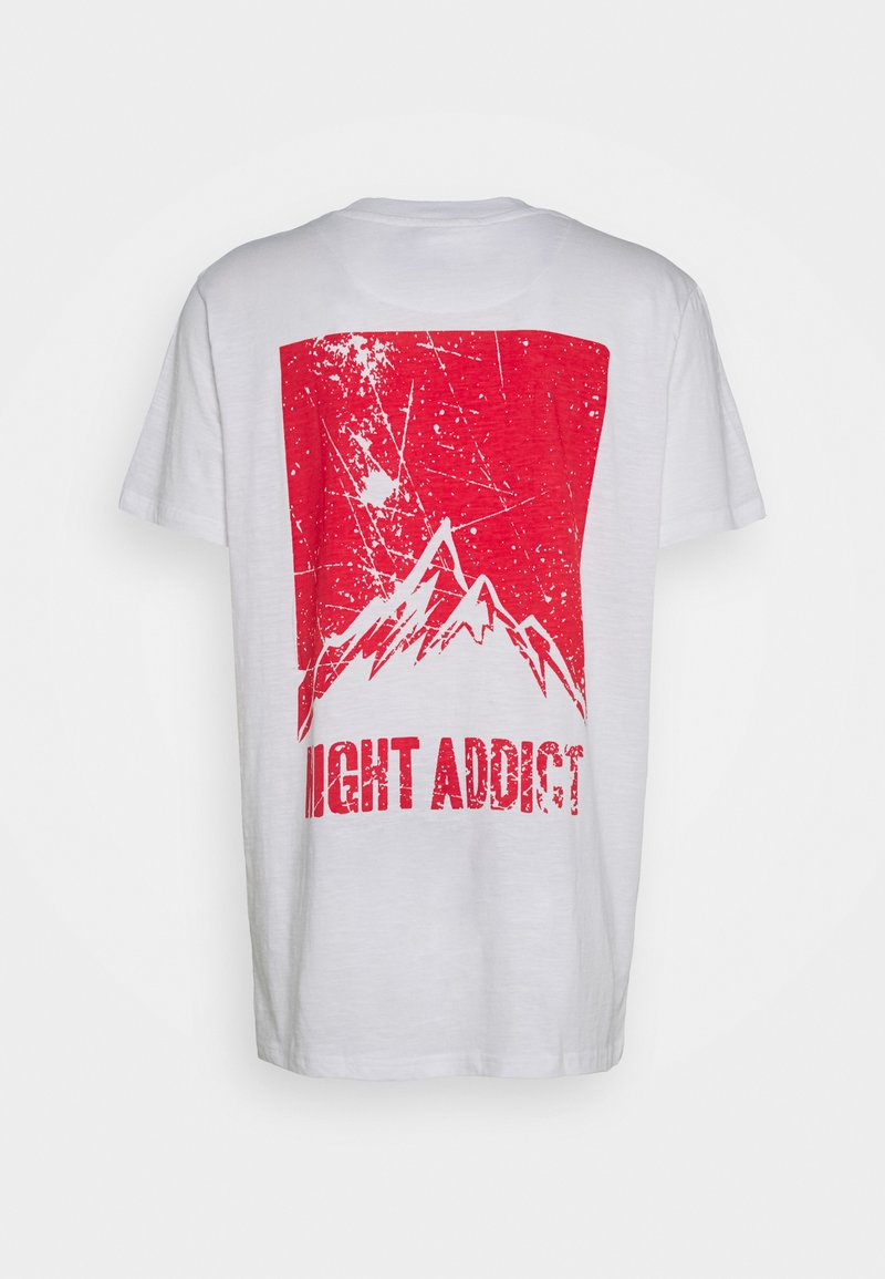 Night Addict - DASHE - T-shirt med print - white/red