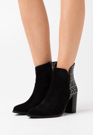 KESHIA - High heeled ankle boots - noir