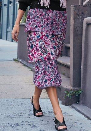 Pleated skirt - purple