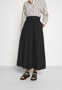 Monki - KINO SKIRT - Maxi sukně - black - 0