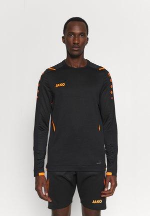 CHALLENGE - Sweatshirt - schwarz/neonorange