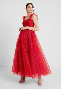 Maya Deluxe - GLITTER MAXI DRESS WITH RUFFLE SLEEVE - Occasion wear - red/gold - 0