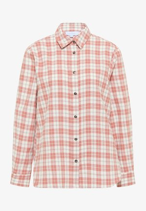 Button-down blouse - rosa wollweiss