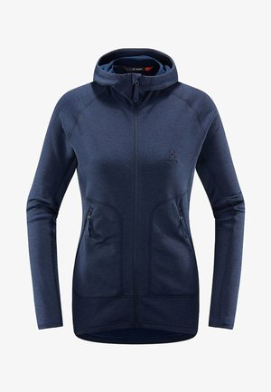 HERON HOOD - Fleece jacket - tarn blue