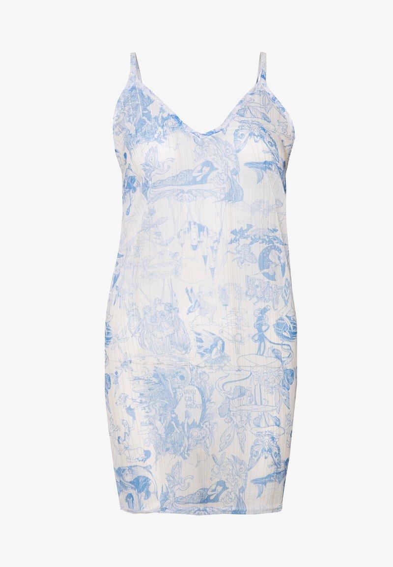 NEW girl ORDER - FAIRY - Blusa - white/blue