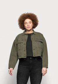 Dr.Denim Plus - NEVADA JACKET - Denim jacket - dark emerald - 0