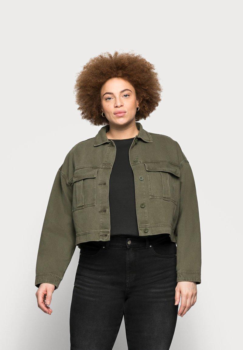 Dr.Denim Plus - NEVADA JACKET - Denim jacket - dark emerald